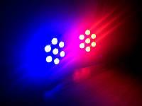 Led par 7x10 прожектор светодиодный, заливка, стробоскоп, dmx,  rgbw