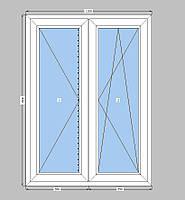 Штульповое окно Rehau,двухкамерный пакет,пластиковое окно  Рехау