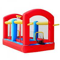 Надувной игровой центр MS 0566 с баскетбольным кольцом и воротами, воздухонагнетатель 680 W