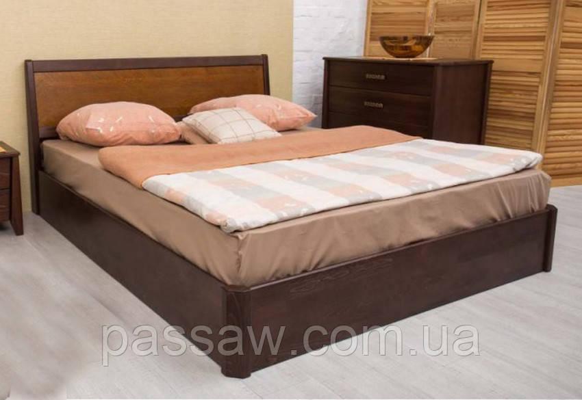 """Кровать деревянная """"Сити с интарсией с подъемной рамой"""" 1,2"""