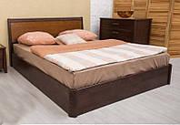 """Кровать деревянная """"Сити  с интарсией с подъемной рамой"""" 1,6"""