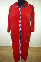 Женский велюровый халат большого размера