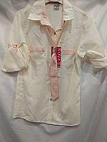 Кофта-блузка для девочки-подростка 11-15 лет белого цвета оптом