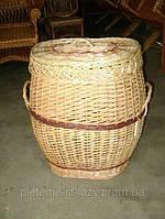 Плетеная бочка из лозы для белья
