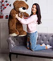 Мягкая игрушка Мишка 105 см темно-коричневый
