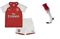 Полный детский комплект Арсенала: футбольная форма + гетры + печать номера/имени