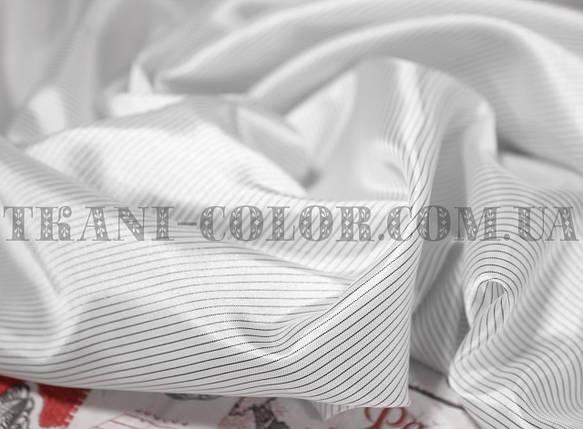 Подкладка нейлоновая принт полоска черно-белая 0,5мм (Европа), фото 2