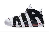 Мужские кроссовки Nike Air More uptempo белые с черным, фото 1
