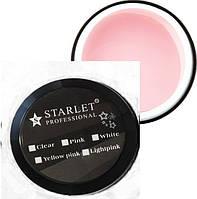 Гель Starlet Professional трехфазный Pink 15 мл, плотный нежно-розовый