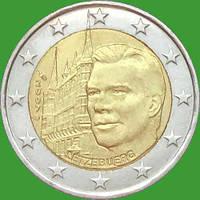 Люксембург 2 евро 2007 г. Дворец Великих герцогов. UNC
