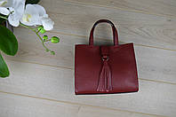 Кожаная красная сумка  98-0244