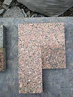 Пилено-термообработанная гранитная брусчатка 20(10)х10х3 КОРЕЦКОЕ