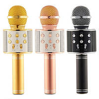 Караоке микрофон с колонкой и записью песен
