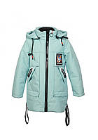 Куртка для девочки  M 95 весна-осень, размеры на рост от 116 до 140 возраст от 5 до 10 лет, фото 1