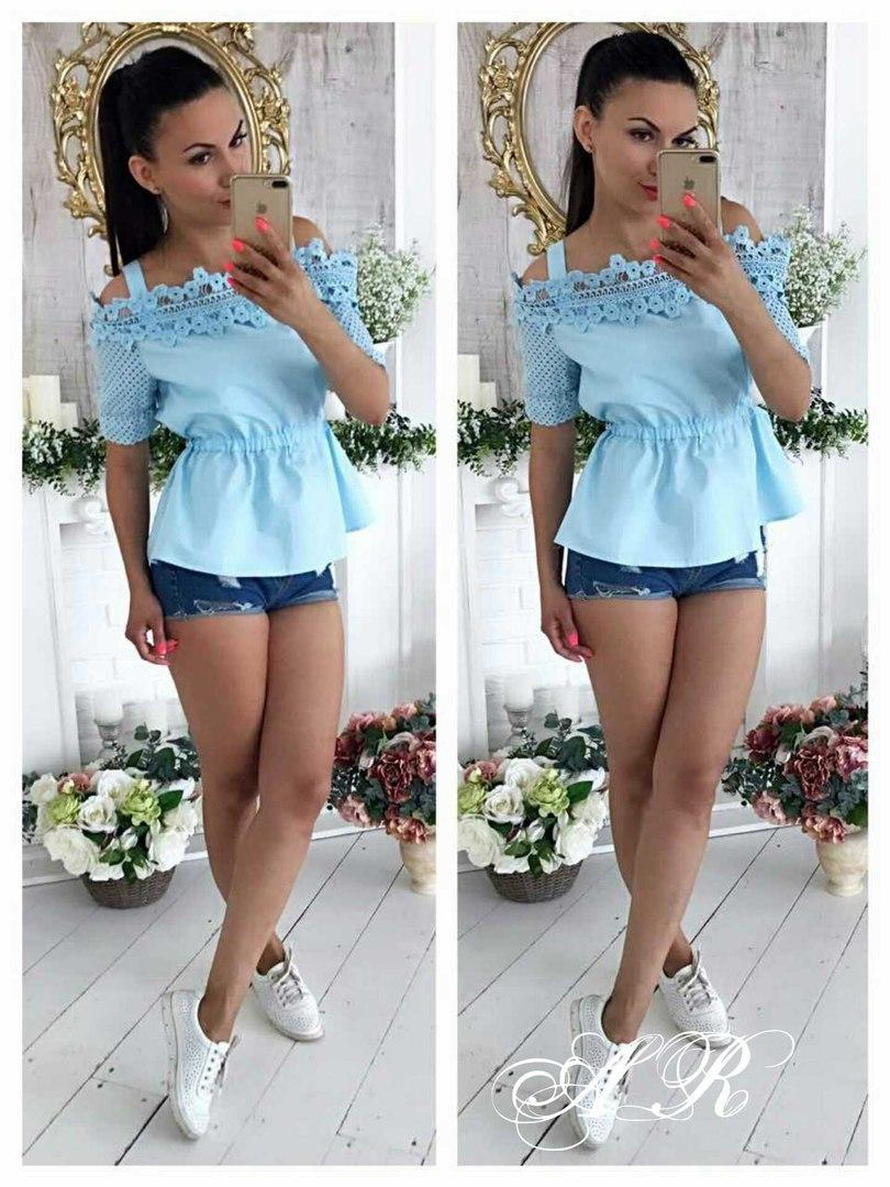 2edc3bae056 Блуза (Фабричный Китай).Ткань Коттон Х б+кружево Размер ...