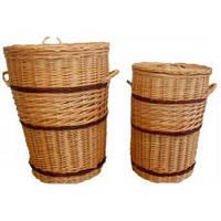 Набор корзин из лозы для белья