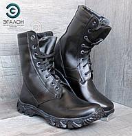 Ботинки берцы кожаные черные DMS-6 тактическая обувь
