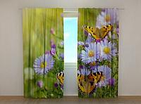 """Фото штора """"Бабочки"""" 250 х 260 см"""
