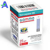 Тест-полоски Gamma MS 25 штук в упаковке срок до 30.07.2019  для Gamma MINI и Gamma SPEAKER