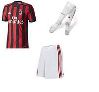 Полный детский комплект Милана: футбольная форма + гетры + печать номера/имени