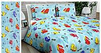 Комплект детского постельного белья с машинками