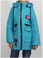 Куртка для девочки  815 весна-осень, размеры на рост от 122 до 146 возраст от 6 до 11 лет, фото 1