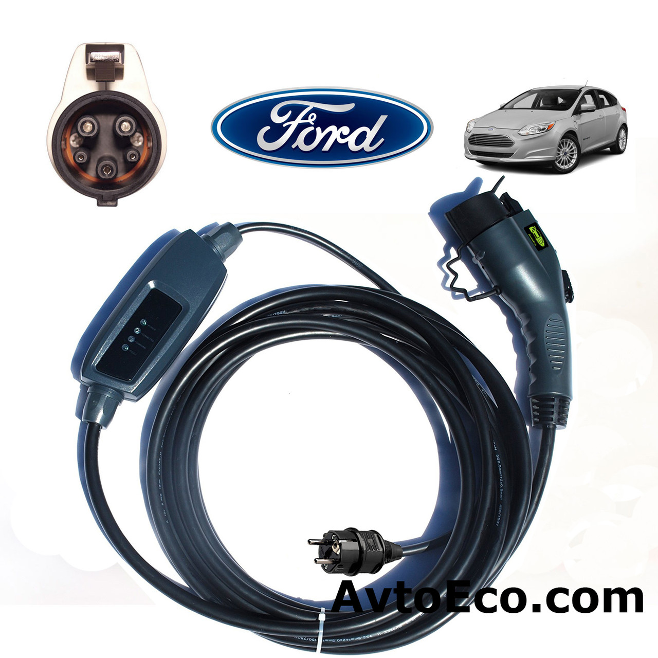 Зарядное устройство для электромобиля Ford Focus Electric Duosida J1772-16A