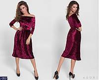 Женское платье велюровое , фото 1