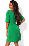 Приталенное платье зеленого цвета, фото 2