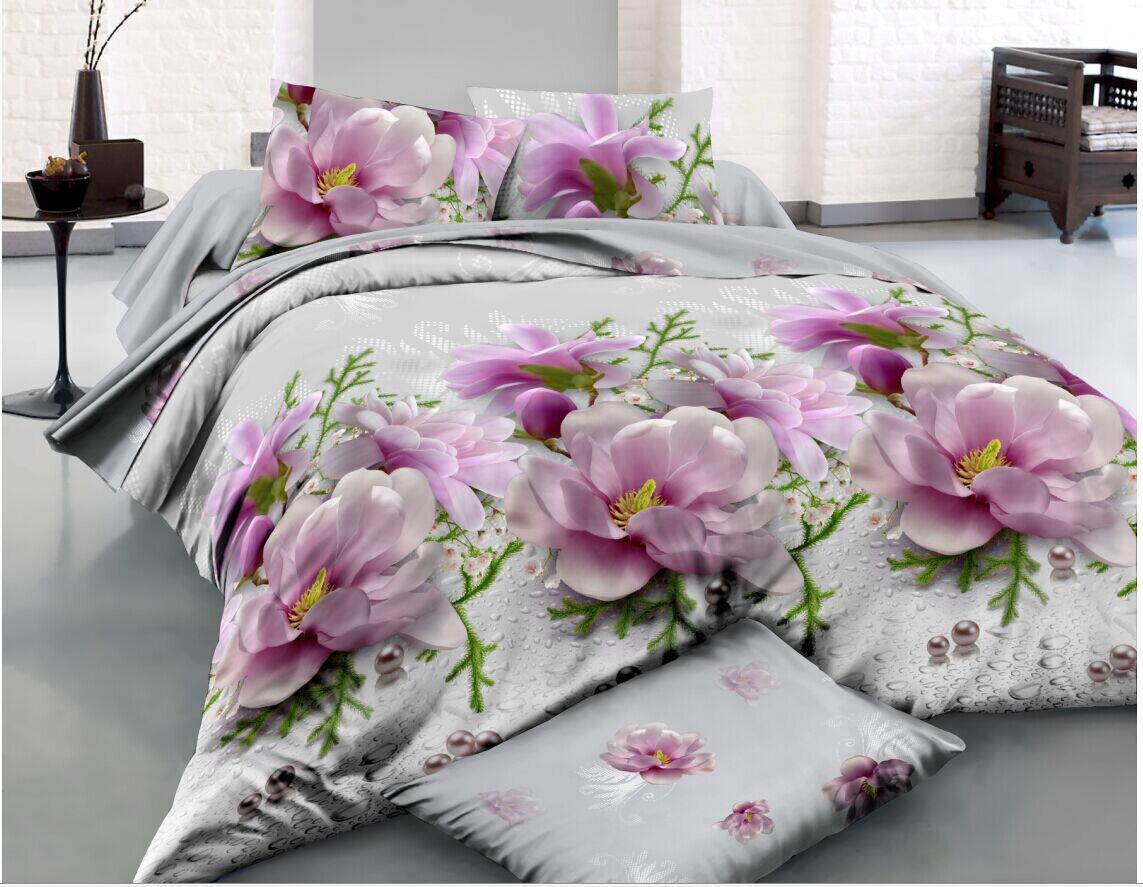 Двуспальный набор постельного белья из Ранфорса №035