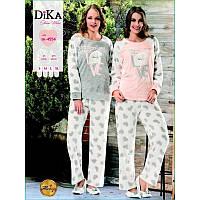 Домашняя одежда Dika Пижама женская 4619 коричневый М f2050af1cb032