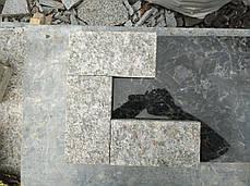Пилено-термообработанная гранитная брусчатка 20(10)х10х3 ЛАБРОДОРИТ, фото 3