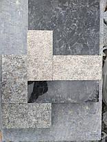 Пилено-термообработанная гранитная брусчатка 20(10)х10х3 ЛАБРОДОРИТ, фото 2