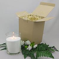 Подарочный набор белая насыпная свеча 15 см