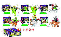 Конструктор JLB 3D14 Черепашки-ниндзя на динозаврах (аналог Lego Ninja Turtles) 6 видов