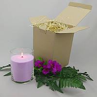 Подарочный набор сиреневая насыпная свеча 15 см