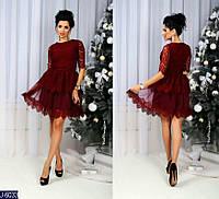 Женское платье гипюровое с сеточкой, фото 1