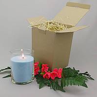 Подарочный набор голубая насыпная свеча 15 см