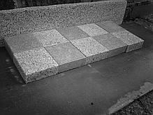 Пилено-термообработанная гранитная брусчатка 20(10)х10х3 ГАББРО, фото 2