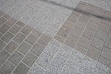 Пилено-термообработанная гранитная брусчатка 20(10)х10х3 ГАББРО, фото 3