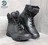 Ботинки мужские кожаные черные ARS-6 демисезонная тактическая обувь