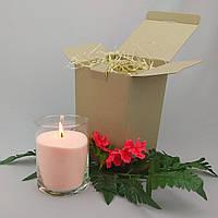 Подарочный набор персиковая насыпная свеча 15 см