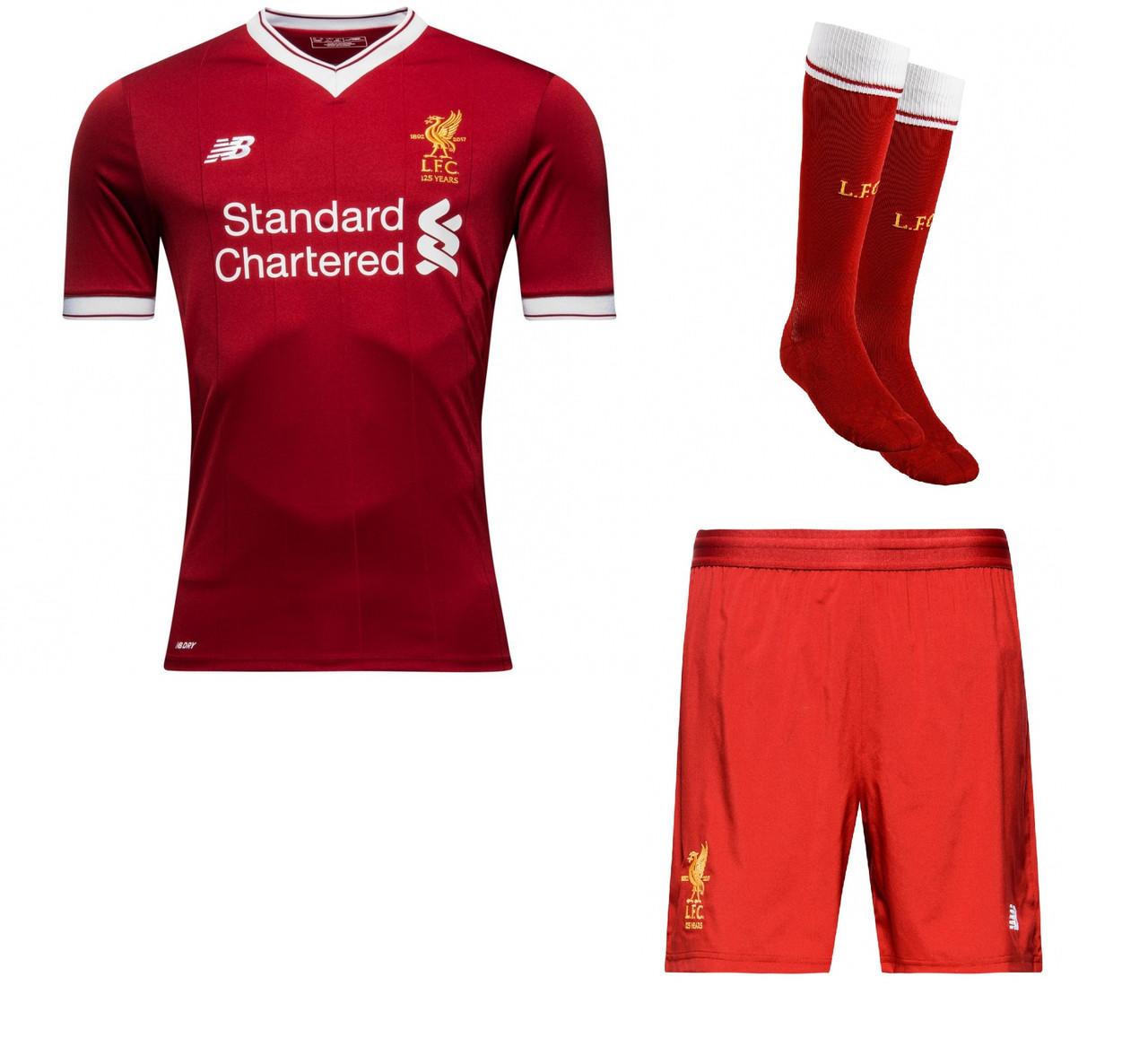 Полный детский комплект Ливерпуля  футбольная форма + гетры + печать номера  имени - Sport 07ace10f6a9