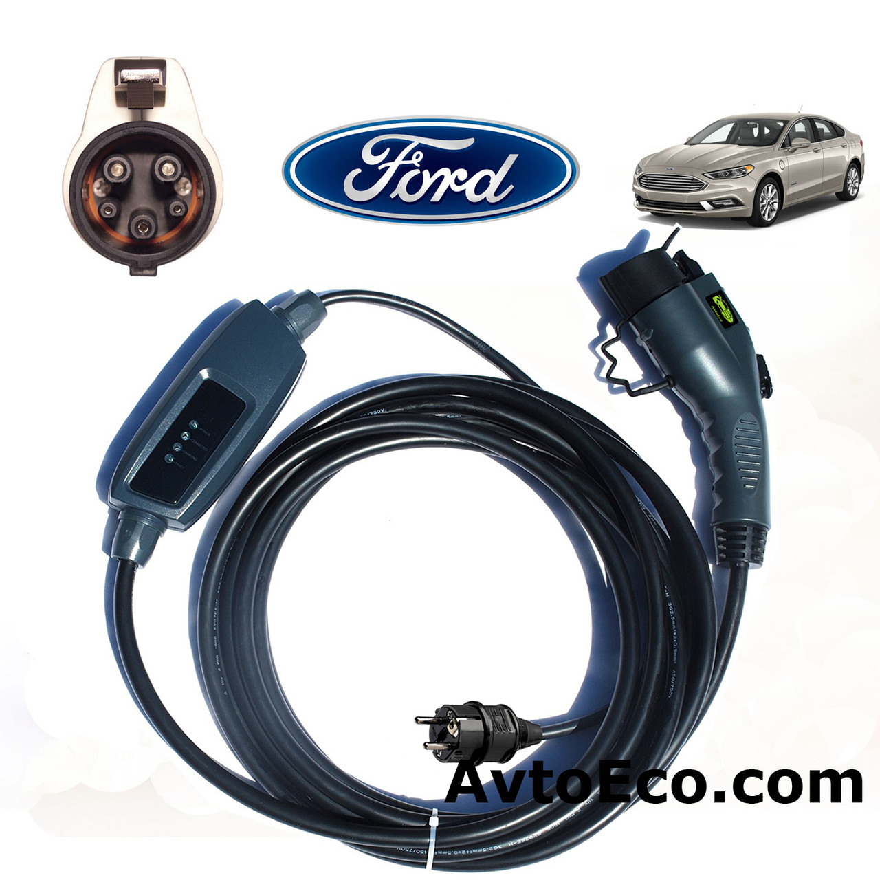 Зарядное устройство для электромобиля Ford Fusion Energi Duosida J1772-16A, фото 1