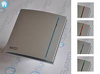 Вентилятор вытяжной Silent-100 CZ SILVER DESIGN, c обратным клапаном 100мм, серебрянный