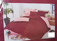 """Постельный набор постельного белья """"Сатин Бордо"""" евро размер"""