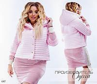 Куртка женская короткая плащевка на синтепоне 42-44,46-48