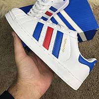 Кроссовки Adidas Superstar Ray Blue (реплика)