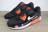 Кроссовки Nike Air Max 90 Black Orange (реплика)