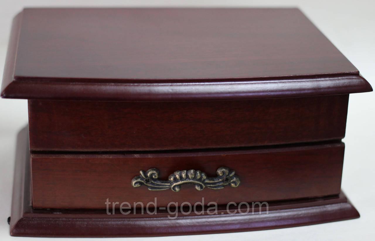 Шкатулка комод, маленькая, деревянная, коричневая, 18х13х8 см